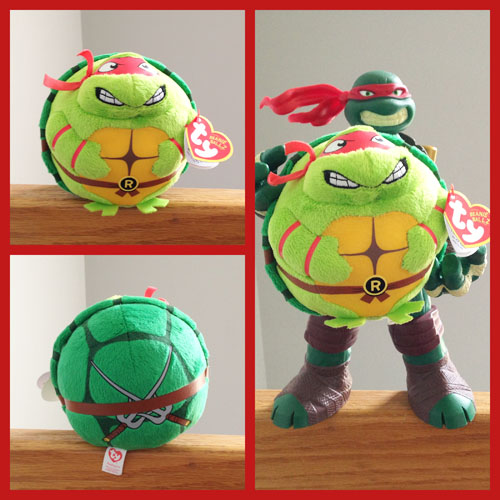 Raphael TY Beanie Ball - Front & Back