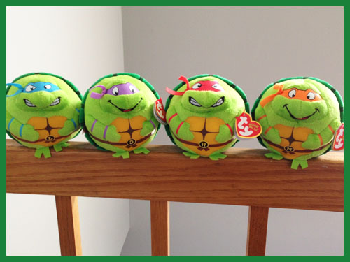 Set of 4 TMNT Beanie Ballz