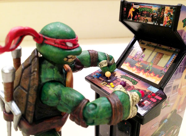 Close-up of TMNT Arcade Screen