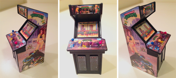 TMNT Mini Arcade - Front & Side View