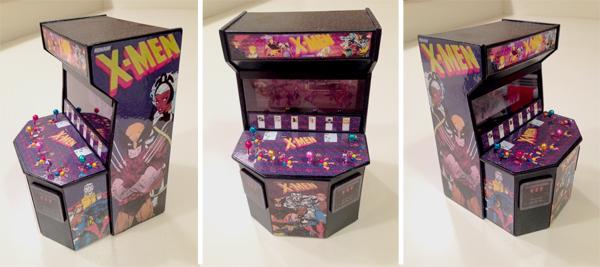 Xmen Mini Arcade Cabinet - Front & Sides